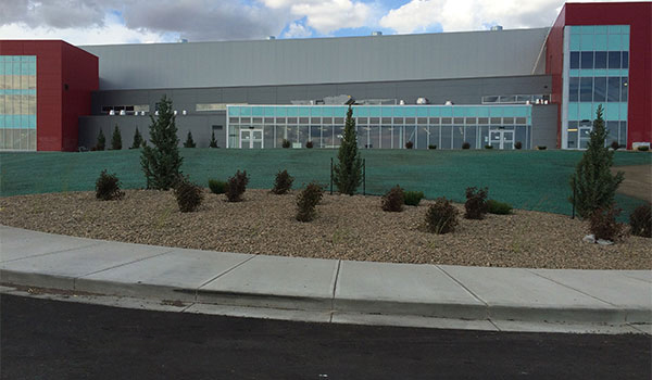 Canalta Centre - landscaping and hydroseeding